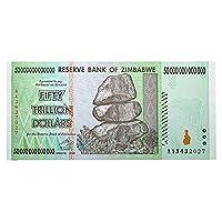 50兆 ジンバブエドル ハイパーインフレ紙幣 50,000,000,000,000ジンバブエドル 50兆ドル