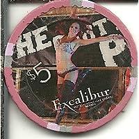 $ 5 Excalibur再生パーティーでラスベガスネバダ州ポーカーカジノチップ