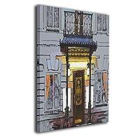 夜の町 現代 装飾画 絵画 壁掛け アートパネル インテリア ポスター 横 玄関 木製額縁なし 部屋飾り 壁掛け式 現代 モダンアート 高品質 壁の絵 軽くて取り付けやすい 居間 背景 モダン