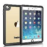 Temdan iPad mini4 防水ケース 完全防水IP68規格 耐衝撃 衝撃吸収 薄型軽量 全面保護アイパッドカバー スタンド機能 ストラップ付き お風呂 キッチン プールiPad ミニ4専用