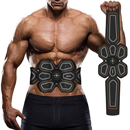 腹筋ベルト EMS 腰部 腹筋トレーニング 多機能 マシーンフィットネスベルト ダイエット器具 超薄 男女兼用 健康機械 USB充電式