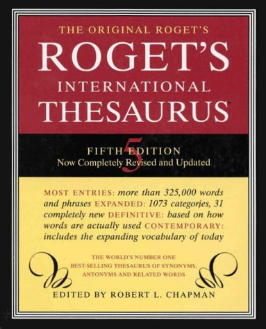 Roget International Thesaurus Index 5E (Roget's International Thesaurus Indexed Edition)