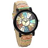 JewelryWe キッズ腕時計 ファッション カジュアル ビジネス レザーベルト アナログ クォーツ 合金 誕生日 プレゼント 子供の日 ギフト 選べる 8 色