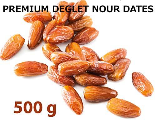 デーツ なつめやし デグラノール種(種抜、チュニジア産) 500g【海外オーガニック認証、ハラル認証】Premium Pitted Organic Halal Dates Deglet Nour Deglet Noor  (グラノーラ スムージー 無添加ド