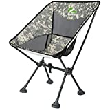 BERSERKER OUTDOOR Ultralight Compact Folding Camping Chair, Portable Lightweight Backpacking Chair with All-Terrain Dynamic Adjustment Feet& Heavy Duty 300lbs for Outdoor Camp, Hiking(Camo1) [並行輸入品]