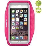 iPhone6アームバンドケース 厚さ僅か1mmの超薄型,EOTW iPhone6 / 6S 4.7インチ スポーツアームバンド ランニング スマホケース 防水 超軽量 キーポケット付 (ピンク)