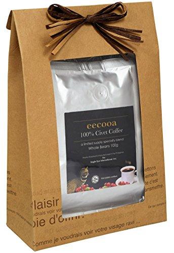エクーア シベットコーヒー 豆 100% フィリピン産ジャコウネココーヒー(コピルアク) (100gアラビカ種 ギフト)