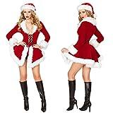 Cuteshower クリスマス サンタ コスチューム 大人用 サンタクロース 衣装 レディース