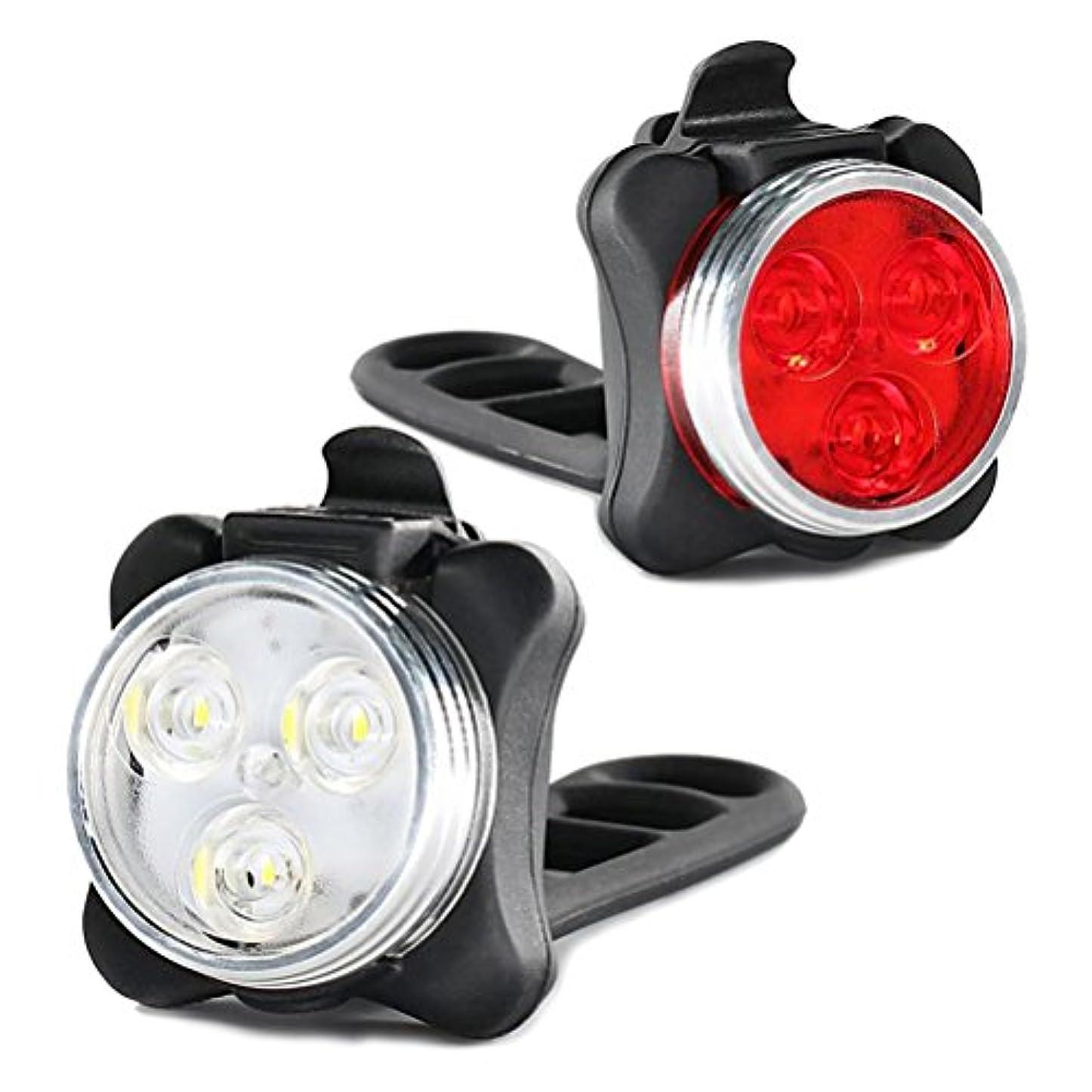 郵便屋さんメモ人気WINOMO 自転車ライト フロントライト バイク ライト USB充電式 防水 安全ライト スーパーブライト デュアルカラー 自転車 MTBロードバイク アクセサリー 2ピース(赤と白)