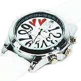 腕時計 メンズ レディース スカル ドクロ ハート ラバーベルト腕時計 ユニセックス ペア