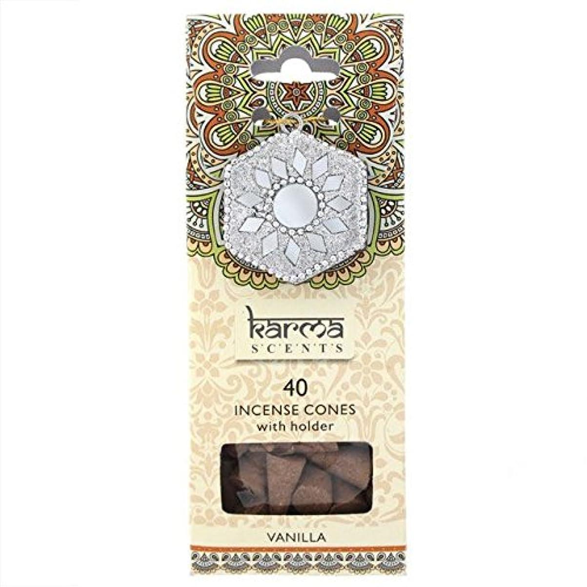上院栄光のうがい薬Karma Vanilla Incense Cones Gift Set