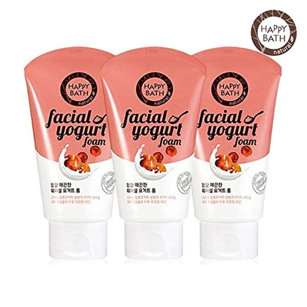 ライター収束する不公平(1+1)ハッピーバスフェイシャルヨーグルトスムースフォーム HAPPY BATH Facial Yogurt Smooth Foam 韓国の人気商品 Korean Beauty Womens