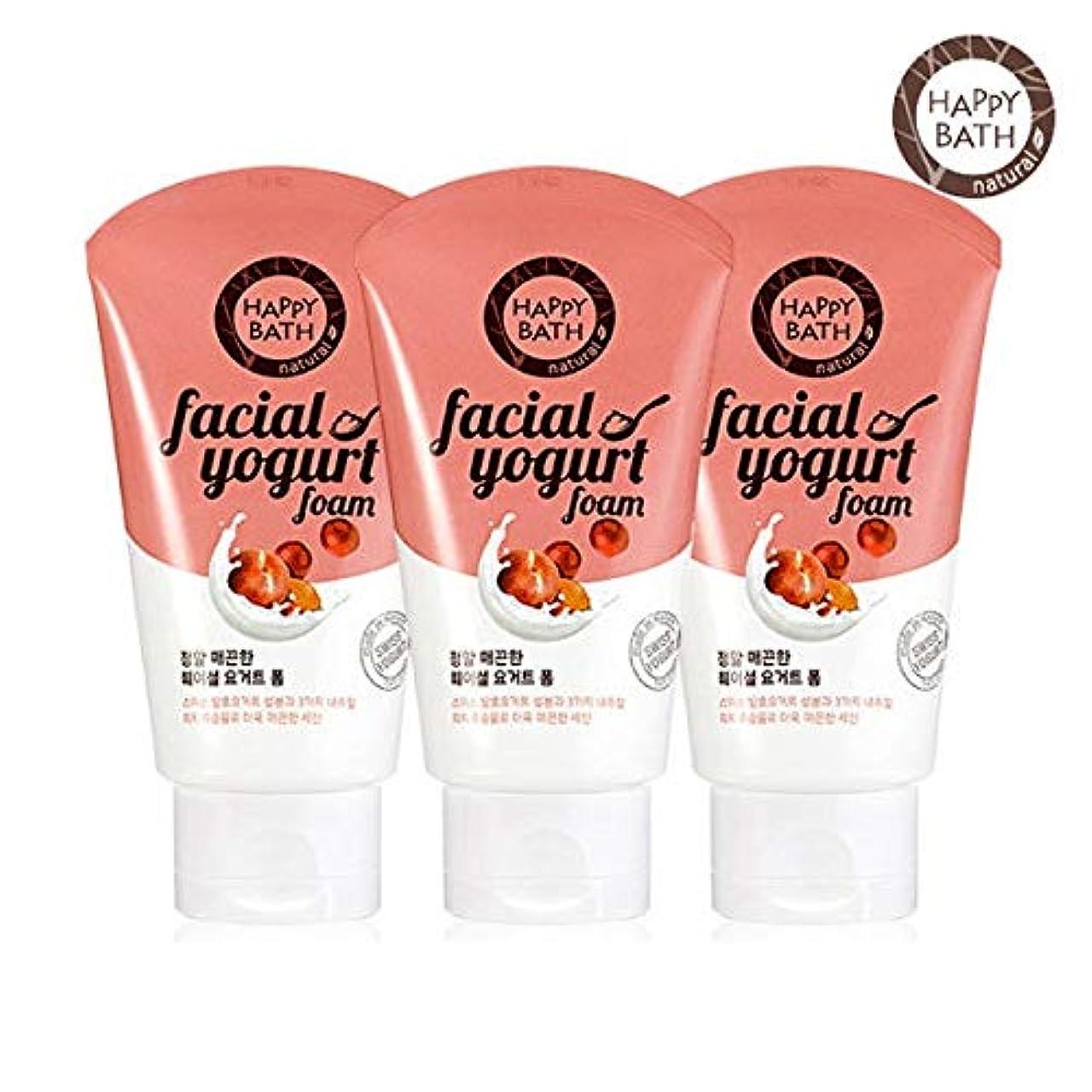 大脳再発するテナント(1+1)ハッピーバスフェイシャルヨーグルトスムースフォーム HAPPY BATH Facial Yogurt Smooth Foam 韓国の人気商品 Korean Beauty Womens