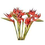 DECT Bird of Paradiseスプレー自然人工Fack花のホームパーティーデコレーション6個パック