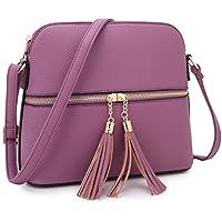 DASEIN Lightweight Medium Crossbody Bags Handbags Cute Purses with Tassel