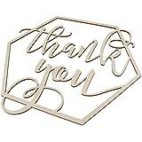 Perfeclan 木製のサイン 未完成 木製看板 結婚式 婚約パーティー 写真ブース 「 Thank You 」