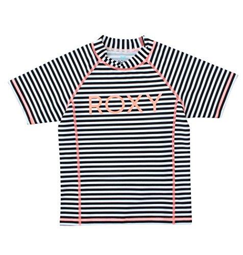 【ROXY ロキシー】 キッズ / ガール UVカット半袖ロゴラッシュガード (100 - 150) 【TLY171063 BBO 100】