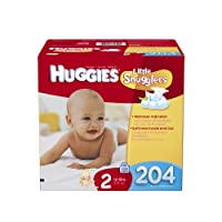 Huggies Little Snugglers Diapers Economy Plus, Size 2, 204 Count by Huggies
