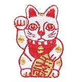 京東都 縁起物 和片 (ワッペン) 招き猫 KY37-162