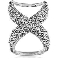 FlusRap Crystal Scarf Ring Clip Rhinestone Geometric Silks Scarf Shawl Buckle