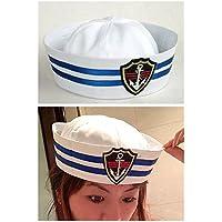 水兵ハット セーラー  キャプテン 帽子 キャップ  なりきり ものまね モノマネ 宴会芸 余興 変装 コスプレ 仮装 ハロウィン コスチューム (子供サイズ54cm)