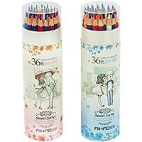 色鉛筆 36色 塗り絵 画材セット 描き用 収納ケース付き  収納便利