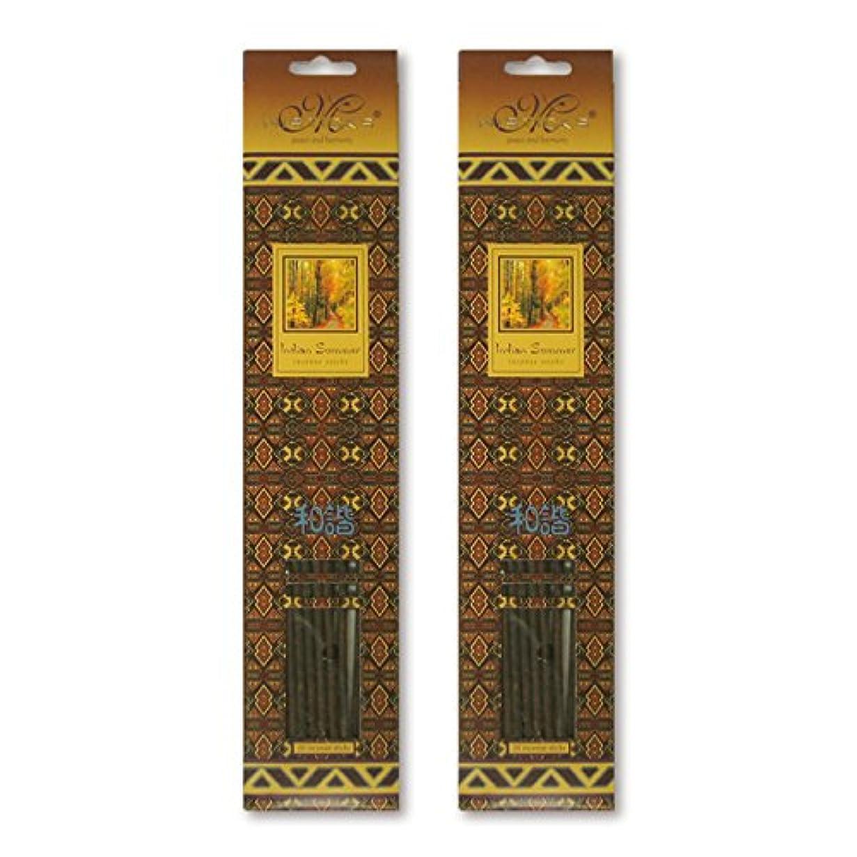 公然とおもてなし典型的なMISTICKS ミスティックス Indian Summer インディアンサマー お香 20本 X 2パック (40本)