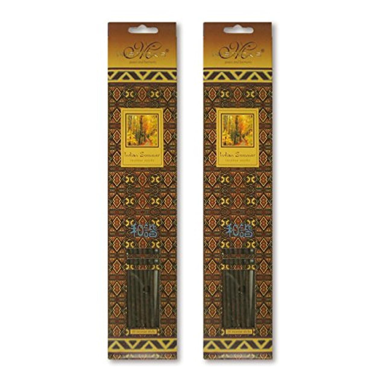 血まみれ鋭く葉を集めるMISTICKS ミスティックス Indian Summer インディアンサマー お香 20本 X 2パック (40本)
