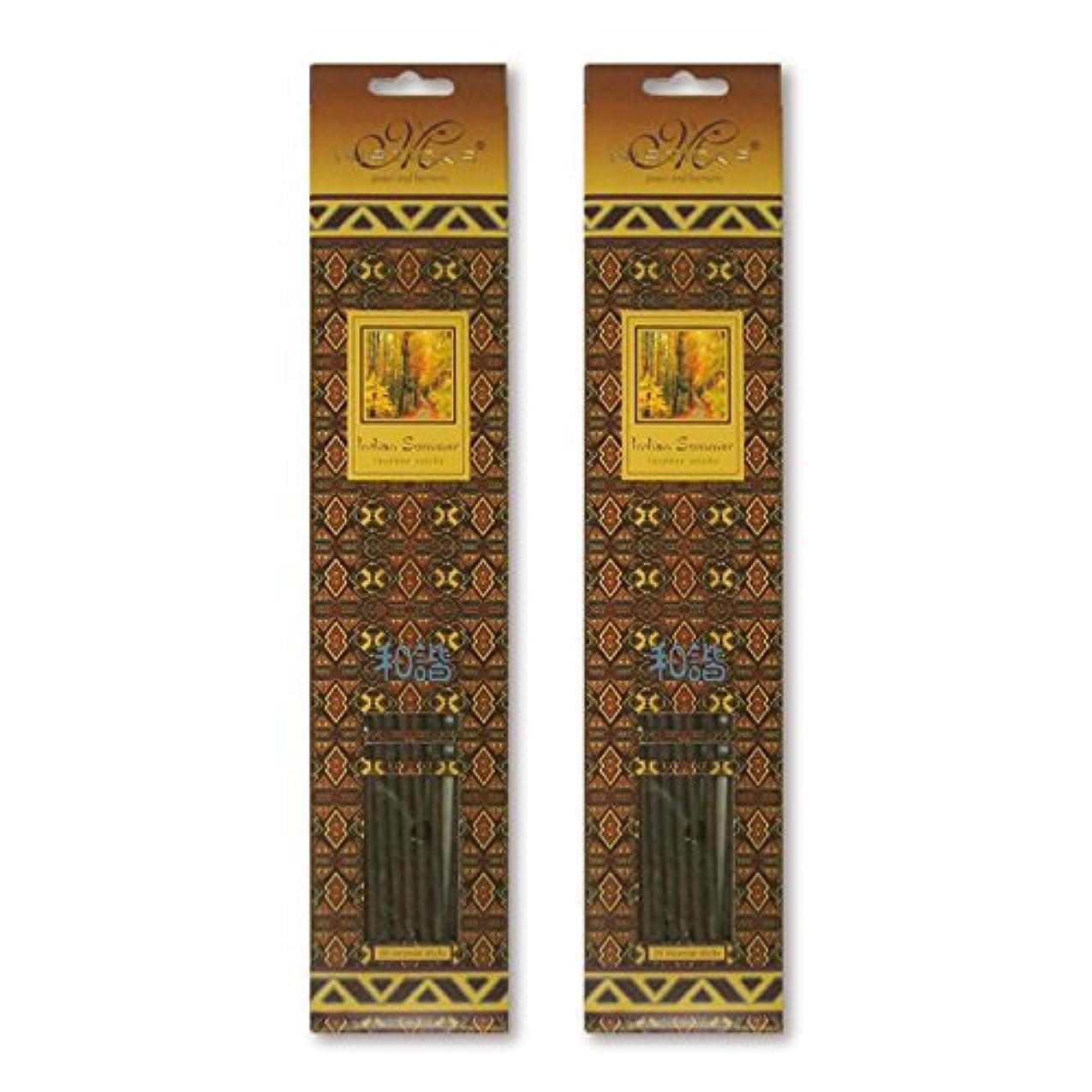 うるさい主導権誇張MISTICKS ミスティックス Indian Summer インディアンサマー お香 20本 X 2パック (40本)