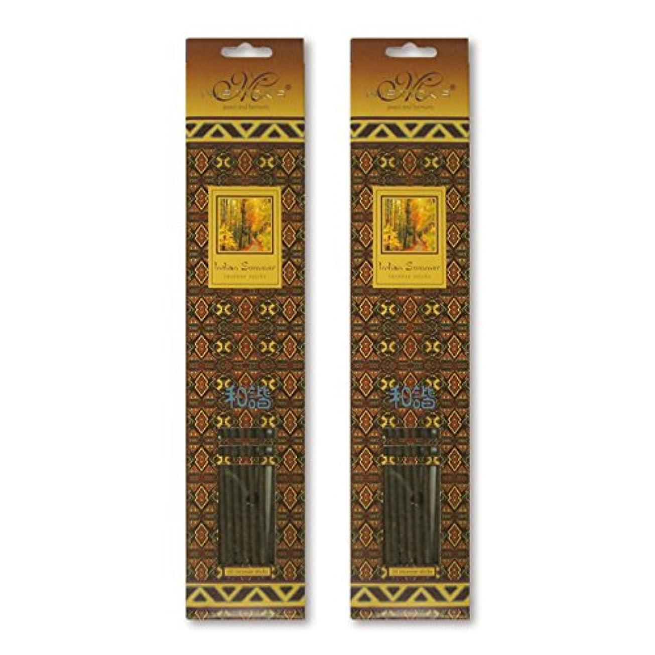 鉄マナー換気するMISTICKS ミスティックス Indian Summer インディアンサマー お香 20本 X 2パック (40本)