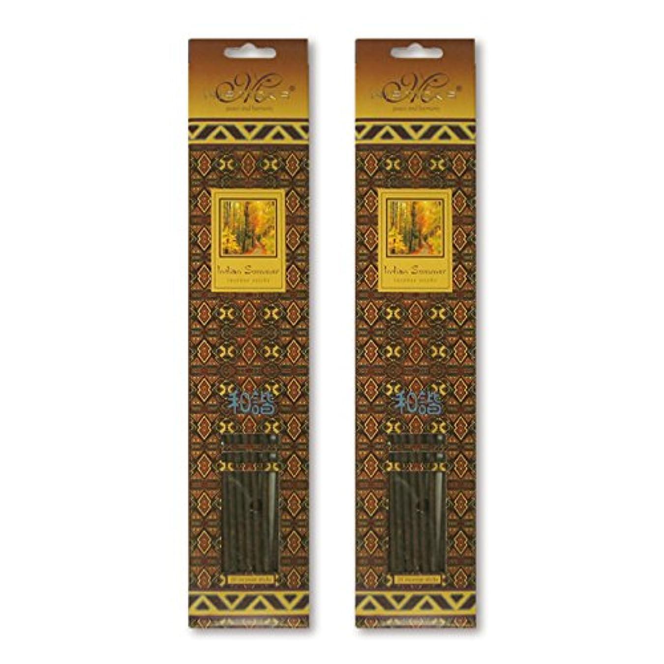スパイラルで出来ているカウンターパートMISTICKS ミスティックス Indian Summer インディアンサマー お香 20本 X 2パック (40本)