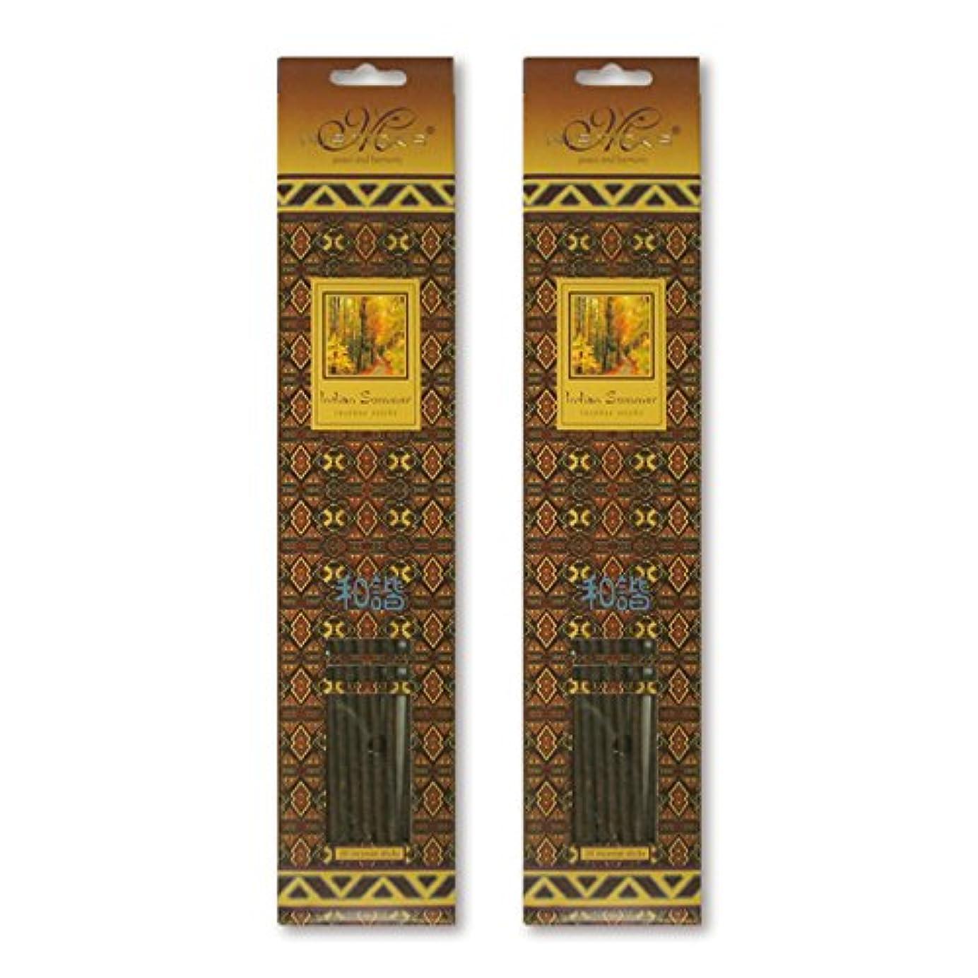 化石剥ぎ取るバリケードMISTICKS ミスティックス Indian Summer インディアンサマー お香 20本 X 2パック (40本)