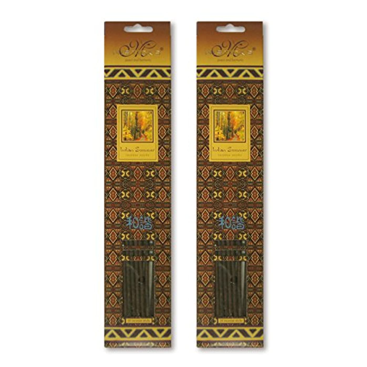 売り手起こりやすい指令MISTICKS ミスティックス Indian Summer インディアンサマー お香 20本 X 2パック (40本)
