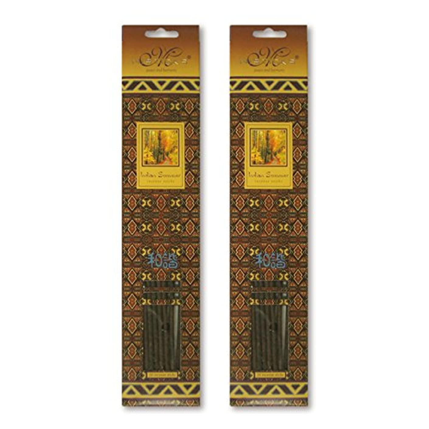 指定する思慮のないナイロンMISTICKS ミスティックス Indian Summer インディアンサマー お香 20本 X 2パック (40本)