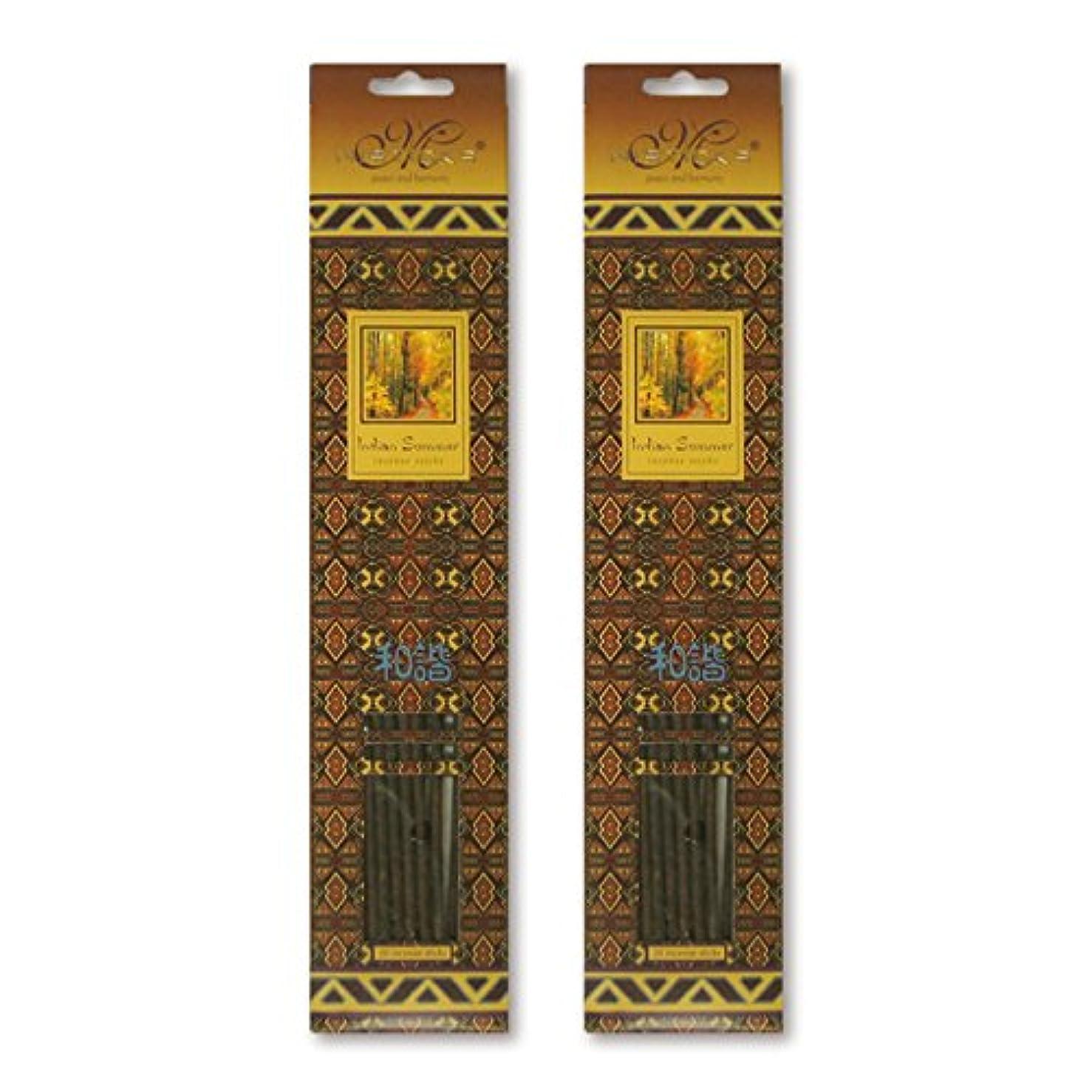 学んだ最大のカナダMISTICKS ミスティックス Indian Summer インディアンサマー お香 20本 X 2パック (40本)
