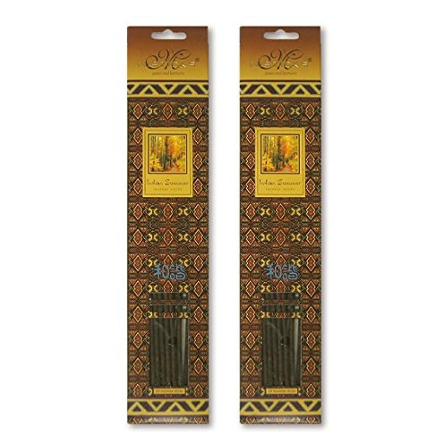 提供する協力むさぼり食うMISTICKS ミスティックス Indian Summer インディアンサマー お香 20本 X 2パック (40本)