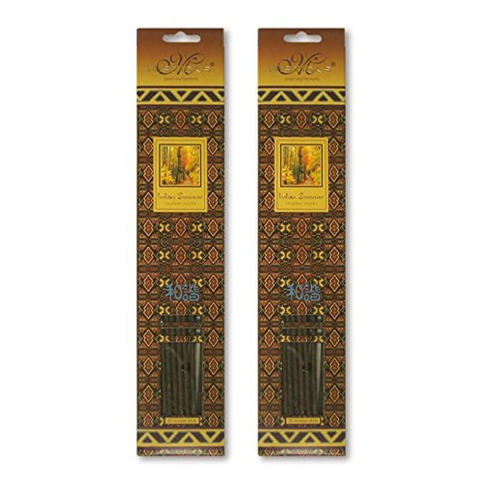 修正ペンダントお手伝いさんMISTICKS ミスティックス Indian Summer インディアンサマー お香 20本 X 2パック (40本)