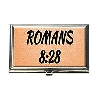 Bible Verse Romans 8–28ビジネスクレジットカードホルダーケース