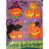 Halloween Window Cling ~ブラックCat In Pumpkinパッチ、ハッピーハロウィーン(8 )