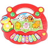 DYNWAVE ミュージック玩具 子どもおもちゃ 電気オルガン キーボード ピアノおもちゃ 音楽 3サウンドパターン
