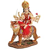 8.5 Inch Durga Mythological Indian Hindu Goddess Statue Figurine