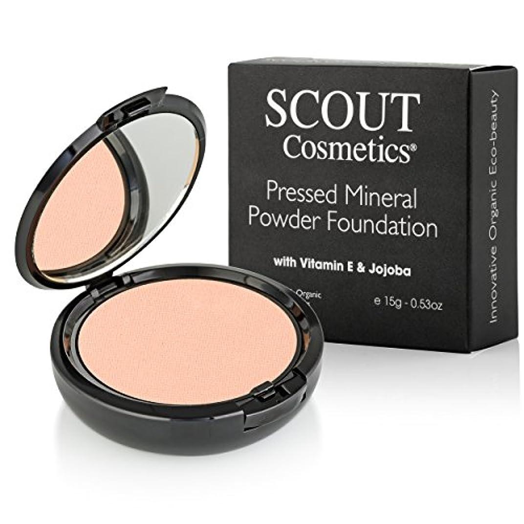 空気銅イタリアのSCOUT Cosmetics Pressed Mineral Powder Foundation SPF 15 - # Sunset 15g/0.53oz並行輸入品