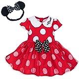 Disney ディズニー Minnie Mouse オーガニックコットンミニーマウス赤水玉模様フリルスカート付きボディースーツ2点セット (6-9months) [並行輸入品]