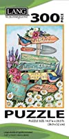 """LANG - 300 Piece Puzzle -Garden Sign Artwork by Susan Winget - Linen Finish - 14.5 """" x 20.5"""" Completed [並行輸入品]"""