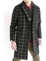(オークランド) Oakland 起毛 チェスターコート ステンカラーコート 全面起毛 ロングコート MODE デザイン シルエット 防寒 メンズ