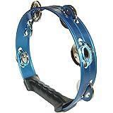 キクタニ タンバリン アルミ製 8インチ(直径 約20cm) MM-6H ブルー