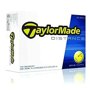 TAYLOR MADE(テーラーメイド) ゴルフボール TM14 DISTANCE 1ダース(12個入り) イエロー A3404701