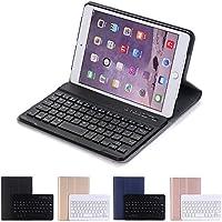 薄型 iPad mini3 mini2 mini キーボード Bluetooth キーボード付きケース カバー アイパッドミニ 3 アイパッドミニ2 アイパッド ミニ ケース キーボード付き KMXDD (iPadmini1/2/3兼用, 黒)