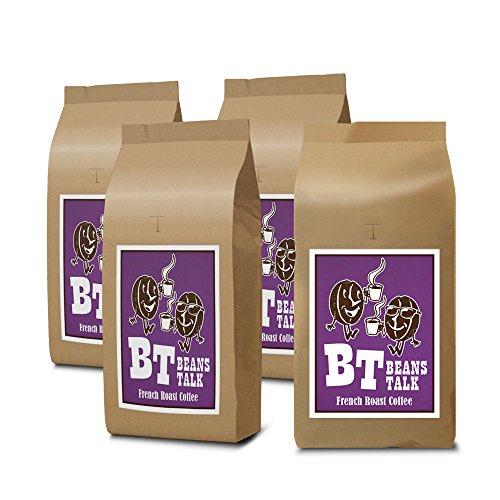 【Amazon.co.jp 限定】ビーンズ トーク フレンチローストブレンド 深煎り 2kg (500g×4) (【 豆のまま 】) アイスコーヒー 水出し カフェオレ エスプレッソ