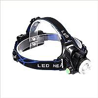 MUTANG LEDホワイトパープルダブルライトソースキャッチスコーピオンライトヘッドマウント防水懐中電灯ライト調節可能なUSBスマート充電ヘッドランプ